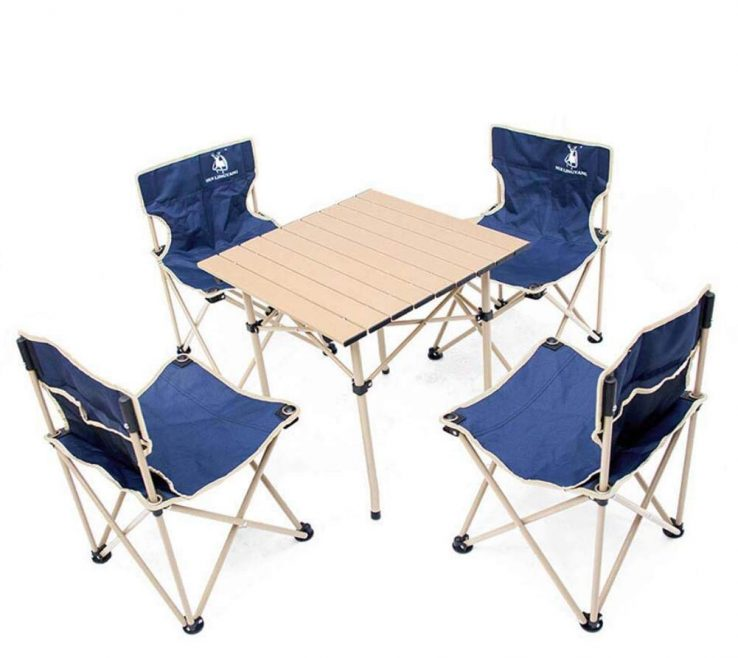 Superbealing Collapsible Table And Chairs Of Get Quotations · Onfly 5 Pcs Portable