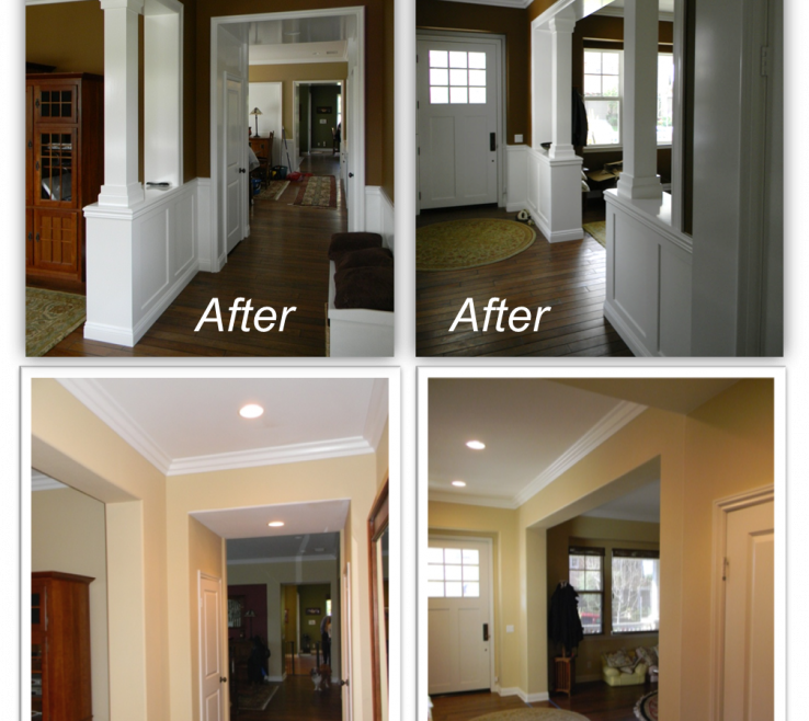 Superbealing Indoor Column Ideas Of Traditional Entryway Trim Mouldings And Columns