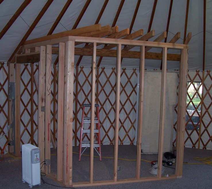 Superbealing Interior Partition Wall Ideas Of Framing In Yurt