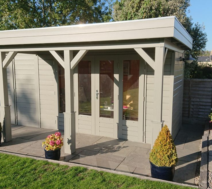 Superbealing Summer E Garden Room Of A Luxury With Integral Shed