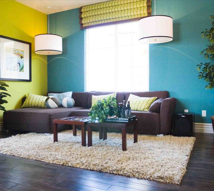 Superbealing Turquoise Color For Bedroom Of Living Room Scheme White And Brown Living