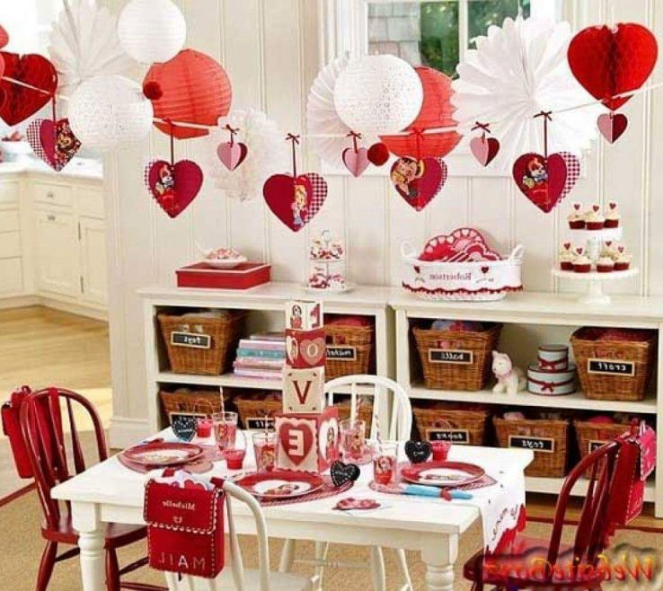 Superbealing Valentine Room Decorations Of Crafty Hangings For Decor On Valentine Creative