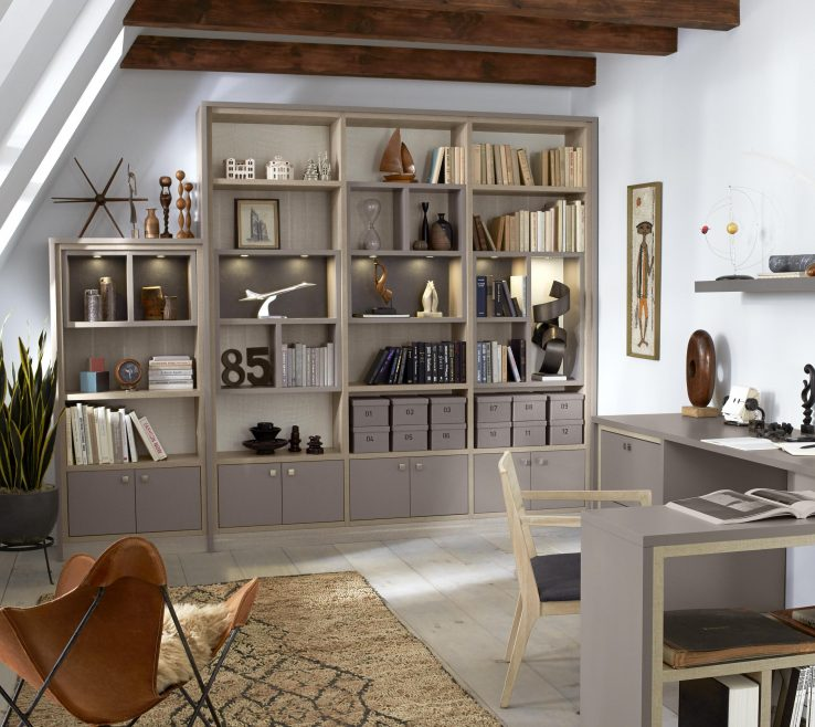 Terrific Built In Home Office Of California Closets Grey With Tan Es