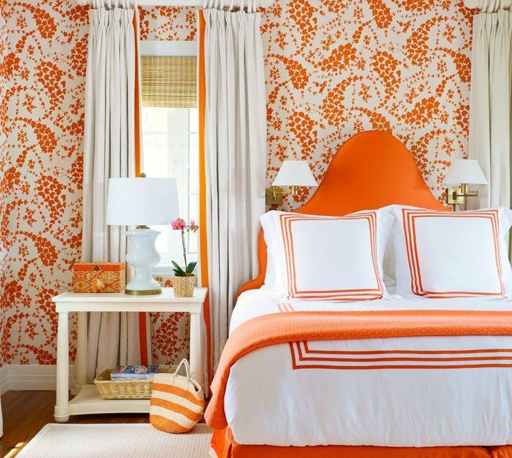 Terrific Curtains With Orange Walls Of Burnt Bedroom Ideas Light Bedroom Bedroom What