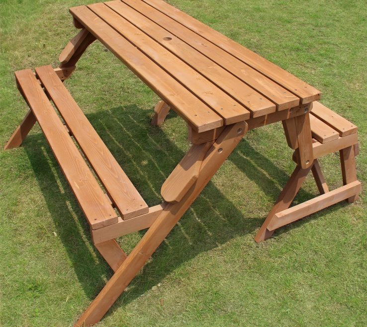 Terrific Garden Bench Table Of Merry Products Partly Assembled, Interchangeable Picnic Table/garden