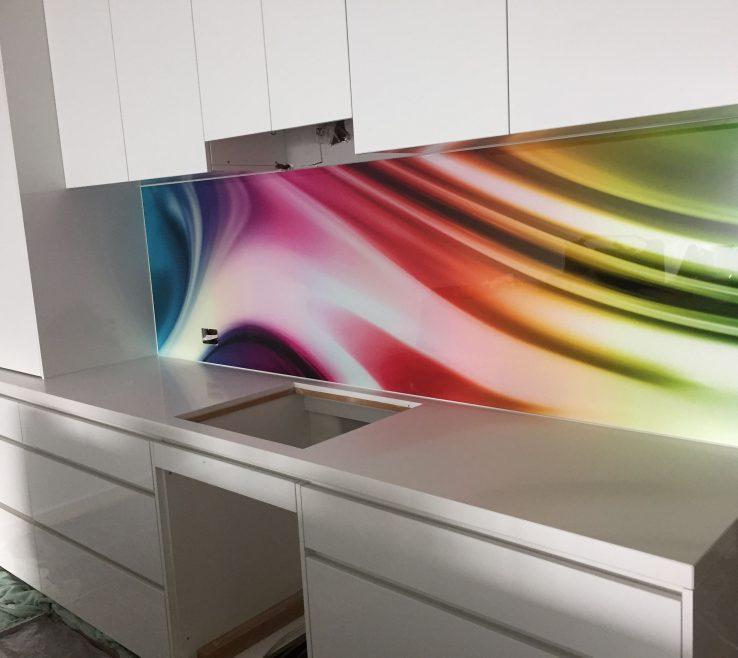Terrific Printed Glass Backsplash Of Custom Splashback By Seein