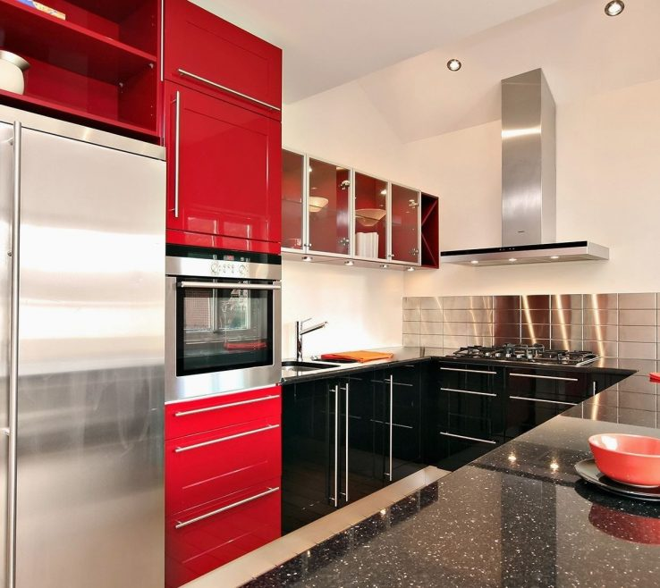 Terrific Red White And Black Kitchen Tiles Of Adorable Unbelievable Interesting Ideas 16