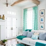 Terrific Turquoise Living Room Ideas Of And White With Shiplap Walls