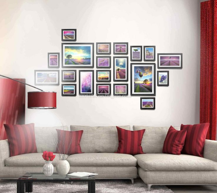 Terrific Wall Picture Frames Layout Of Wood Photo Gallery Chic Originality Modern