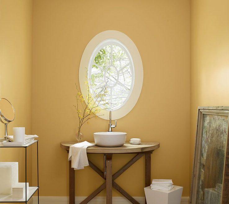 Terrific Yellow Bathroom Paint Ideas Of Benjamin Moore Sun Kissed Orange Bathroom T Morning