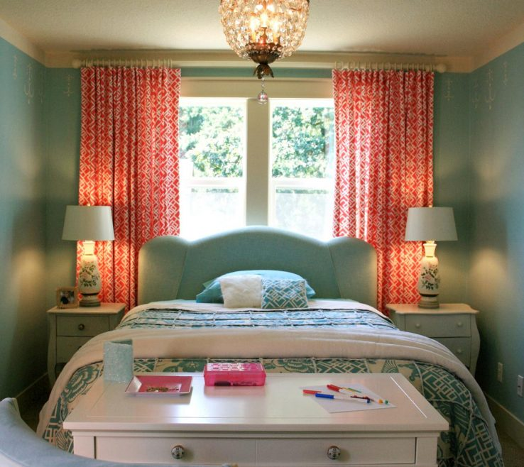 Turquoise Color For Bedroom Of Small