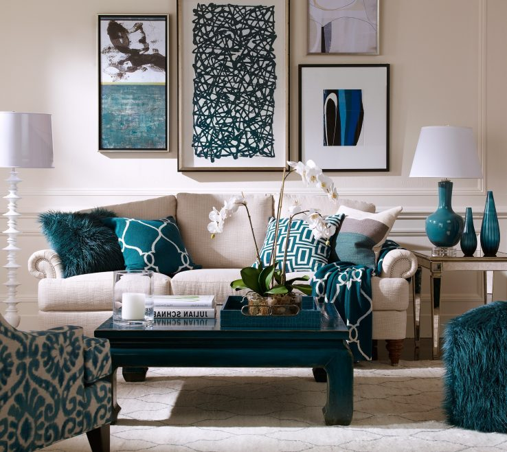 Turquoise Living Room Ideas Of Accents For Small Console Table E Island