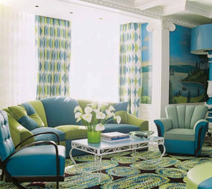 Turquoise Living Room Ideas Of : Decorating Gold