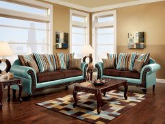 Dark Turquoise Living Room