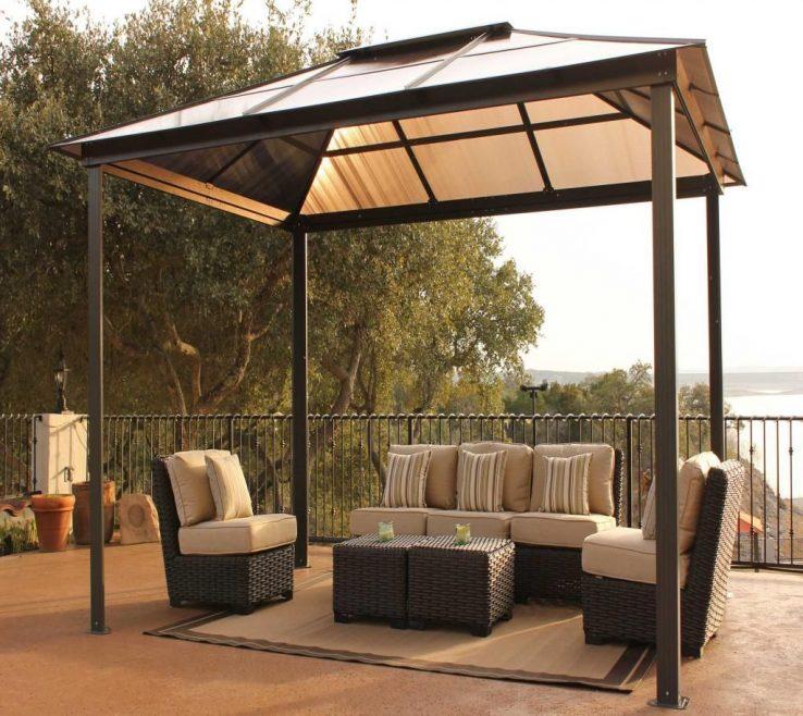 Unique Furniture For Gazebo Of Backyard Canopy Design In Minimalist Outdoor Canopy