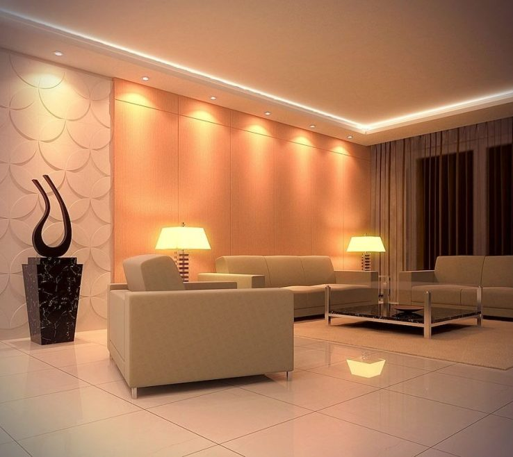 Unique Low Ceiling Lighting Of Living Room Ideas Grey Wool Arms Sofa