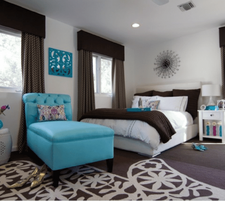 Unique Turquoise Blue Bedroom Designs