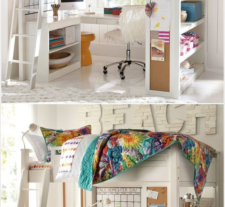 Vanity Beds For Small Spaces Of Amazing Kids Room Loft Bed, Kidsroom