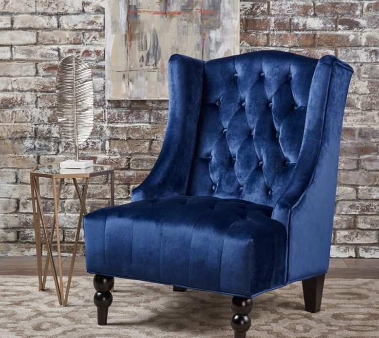 Vanity Dark Turquoise Living Room Of Black Leather Accent Chair Armless Wingback Chair