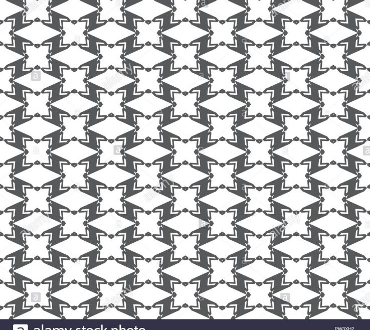 Vanity Geometric Decoration Of Abstract Seamless Pattern Repeating Black