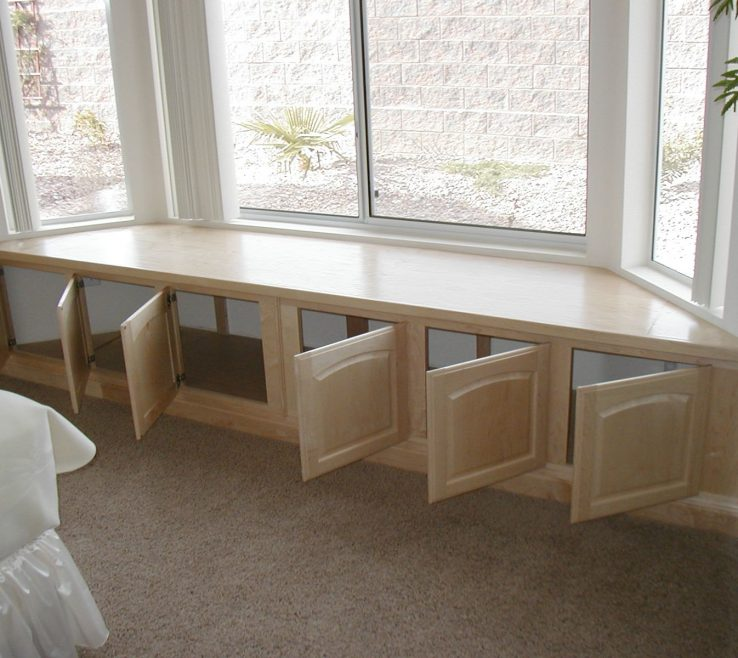 Vanity Under Window Seat Storage Of Architecture Maple Built In Renovation Ideas Benches