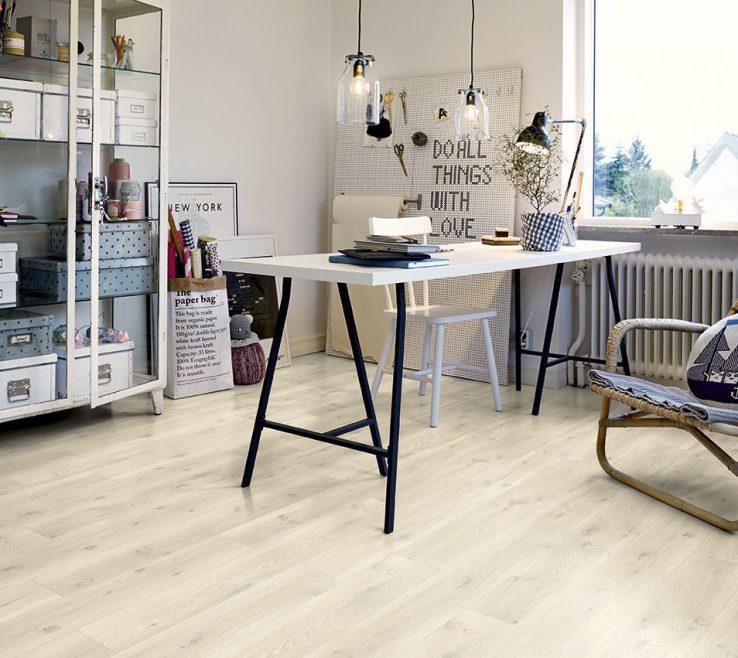 Vanity Vinyl Flooring Modern Of / Residential / Strip / Smooth