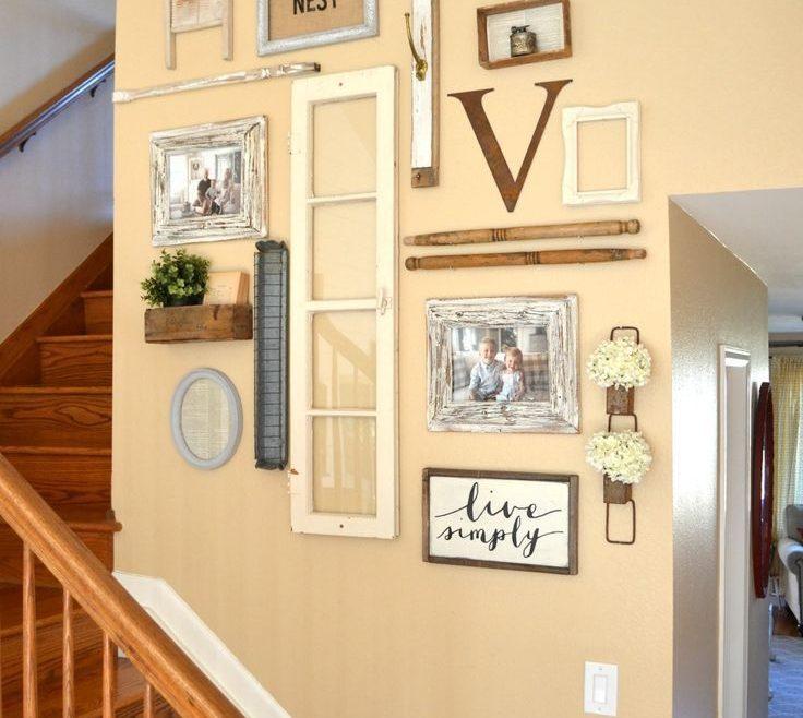 Vintage Wall Decor Ideas Of Inspired Staircase Gallery Wall. E Ideas. #walldecorideasforparty
