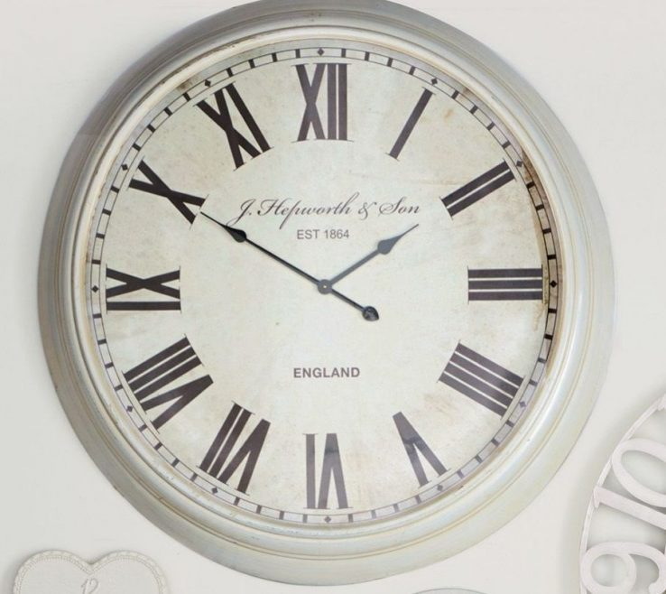 Wall Clocks For Kitchens Of Extra Large Cream Clock From Next