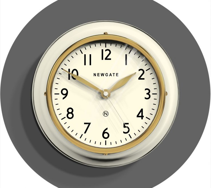 Wall Clocks For Kitchens Of Small Kitchen Clock | Classic Cream |