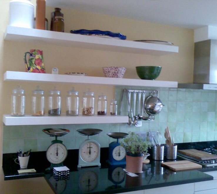 Wall Mounted Kitchen Shelves Of Wood Ideas