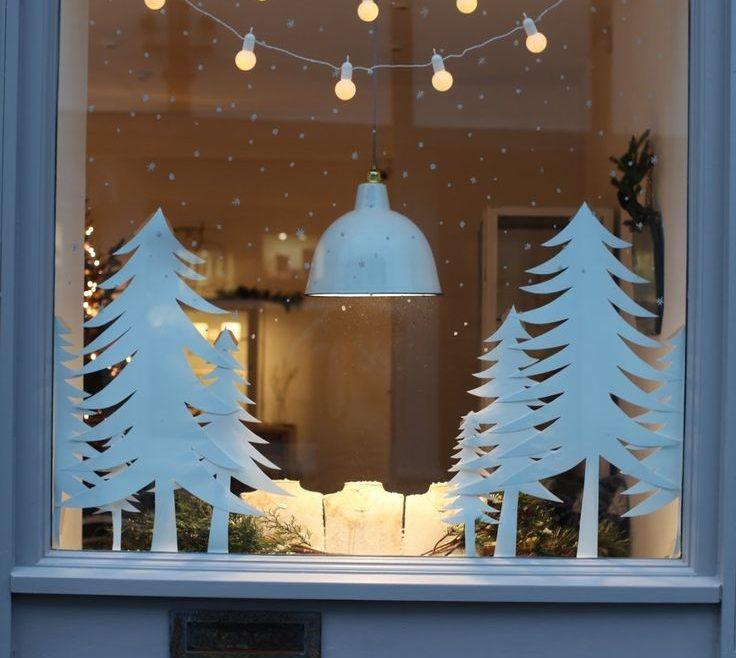 Window Sill Christmas Lights Of Diy Display, Winter Or Display. Using Copy