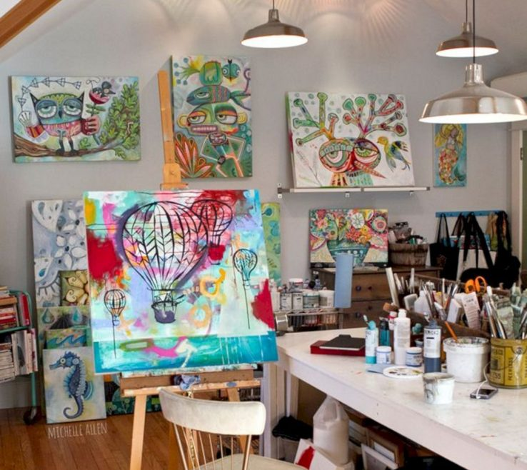 Wonderful Art Studio Ideas Of Epic 65+ Stunning Design For Small Spaces