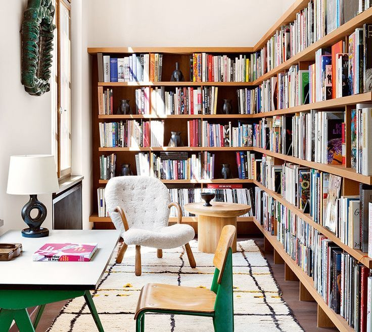 Wonderful Bookshelves Library Style Of A Berlin Apartment Fuses 1950s Classics