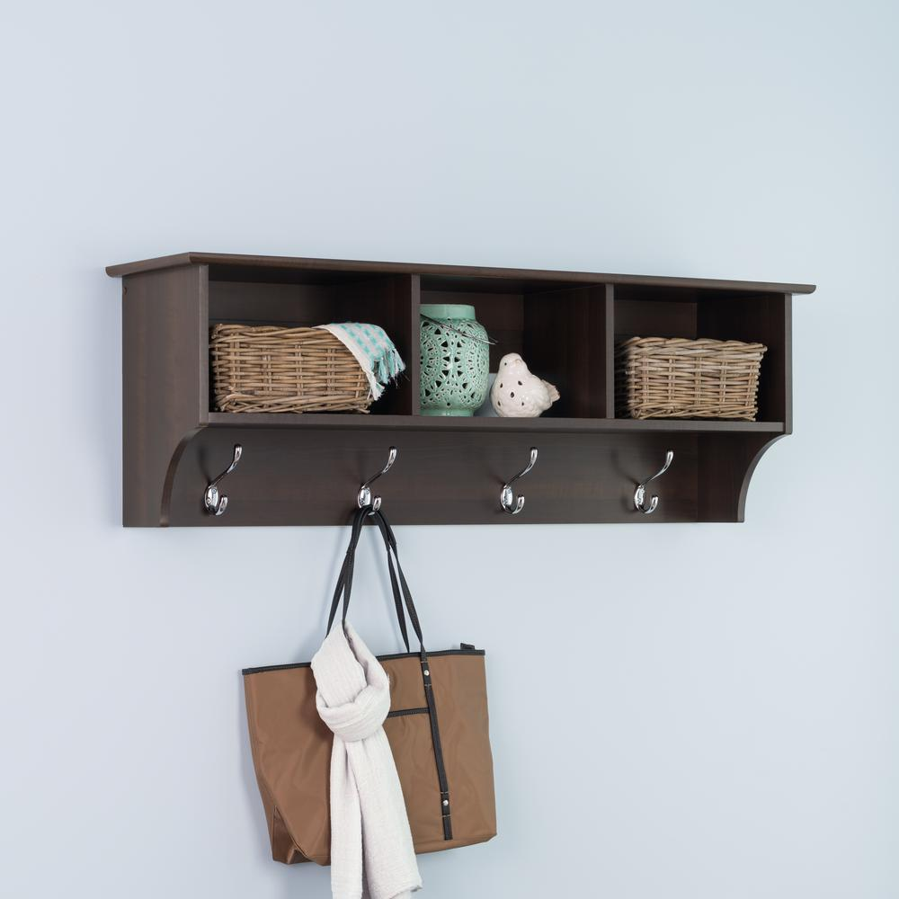 Wonderful Entrance Hall Tables For Sale Of Fremont Wall Mounted Coat Rack In Espresso