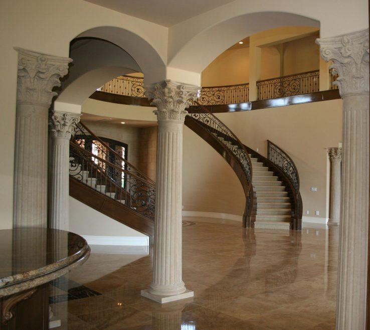 Wonderful Interior Column Designs Of E #stairs Pinned By Www.modlarreview