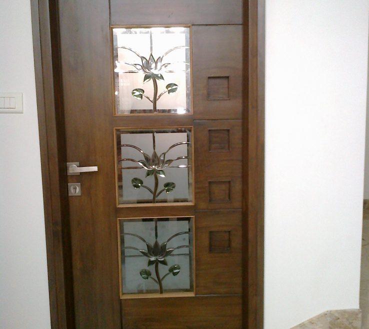 Wonderful Modern Room Doors Of Teak Wood Pooja Door Designs Joy Studio