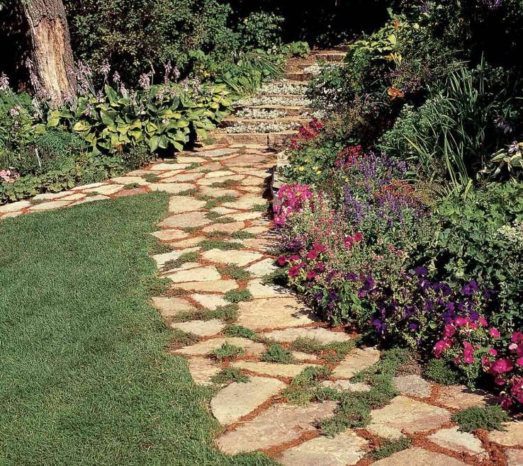 Wonderful Wood Garden Path Of Tips For Building A Stepping Stone