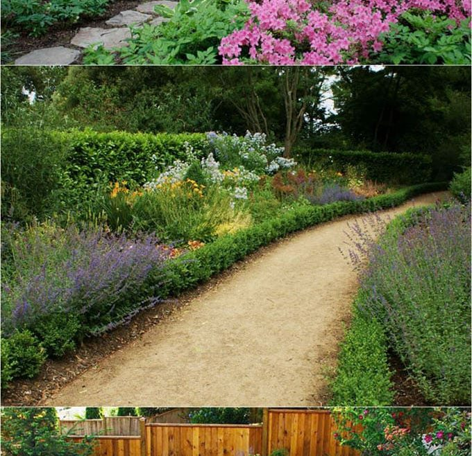 Wood Garden Path Of Natural Looking