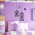 Adorable Purple Wall Decor For Bedrooms Of Beautiful Kids Bedroom Painting In Purple