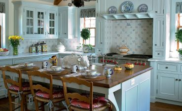 Adorable Rustic Kitchen S Of Robins Egg Blue Hued