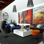 Adorable Wall Art For Living Room Of Large Work