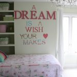 Adorable Wall Decor Teenage Girl Bedroom Of New