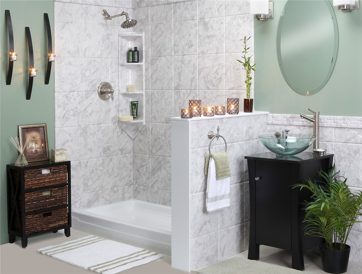 Alluring Bathroom Shower Walls Of Showers Surrounds Photo
