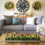 Alluring Large Wall Decor Ideas For Living Room Of Clock With Windows And Wreaths