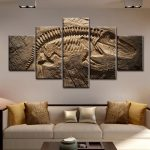 Alluring Wall Art For Living Room Of Large Picture Decor Dinosaur Fossil Abstract Painting