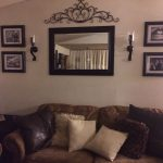 Alluring Wall Decor For Living Room Of Behind Couch In Mirror Frame Sconces