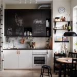 Amazing Ikea Kitchens Of Small Black And White Kitchen With Chalk
