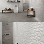 Artistic Bathroom Wall Tile Installation Of The Geometric Shapes In These d Tiles