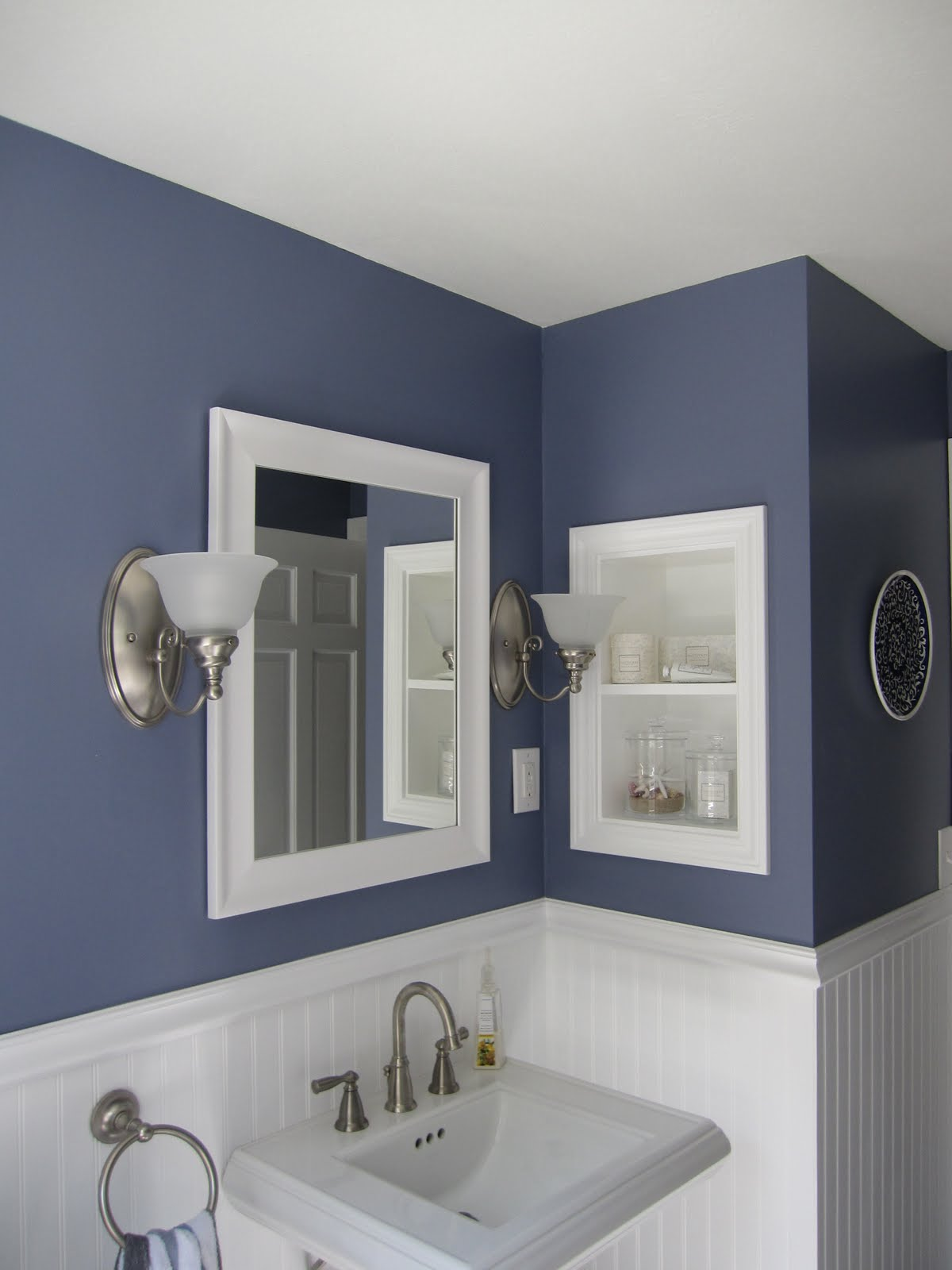 Artistic Blue Bathroom Walls Of Full Size Of Bathrooms Traditional Designs Floor