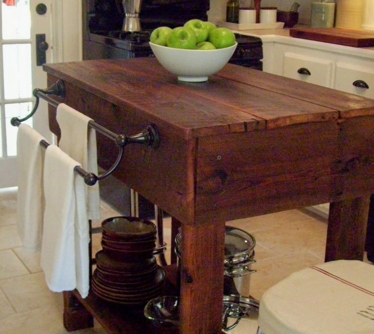 Artistic Kitchen Island Of Agedwoodisland Barn Wood